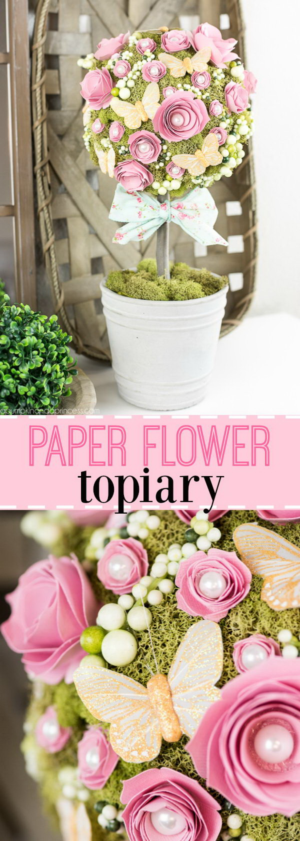 DIY Easter Decoration Ideas: DIY Flower Topiary.