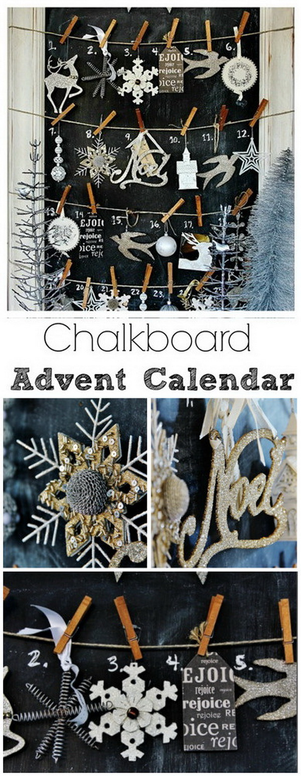 Chalkboard Advent Calendar.