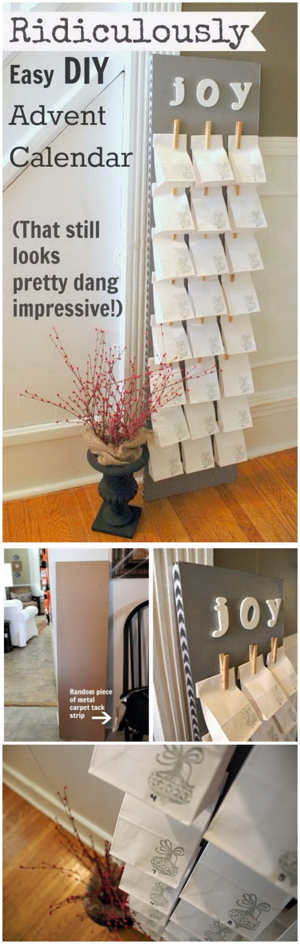 DIY Leaning Paper Bag Advent Calendar.