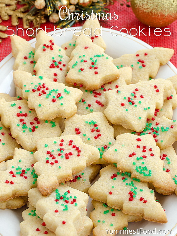 Quick and Easy Christmas Treat Ideas: Christmas Shortbread Cookies.