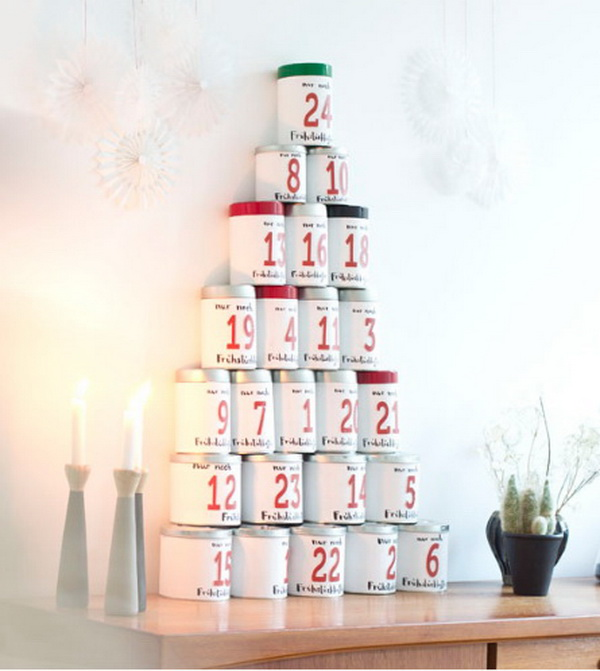 Tin Can Advent Calendar.