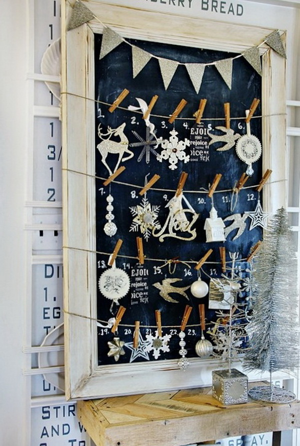 Chalkboard Advent Calendar.