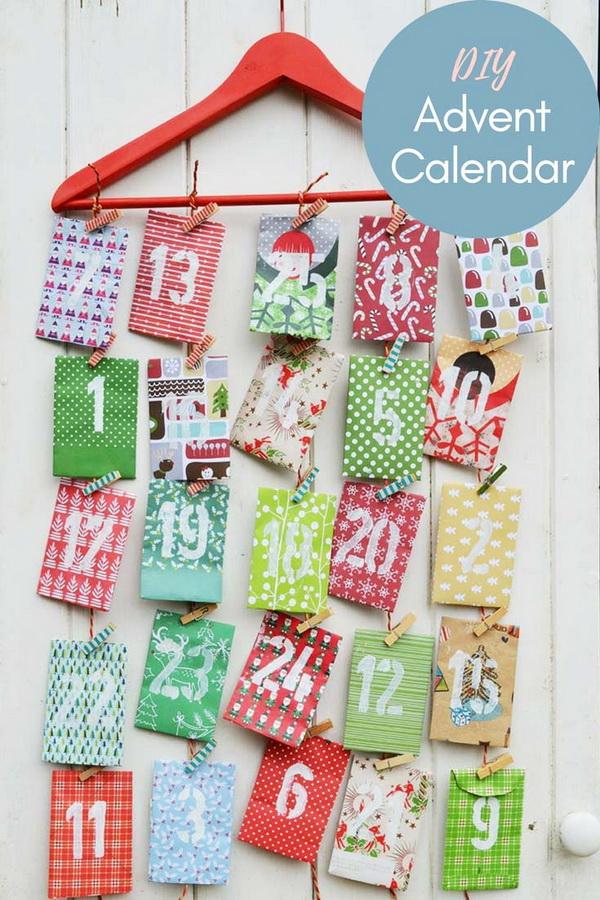 DIY Paper Envelope Advent Calendar.