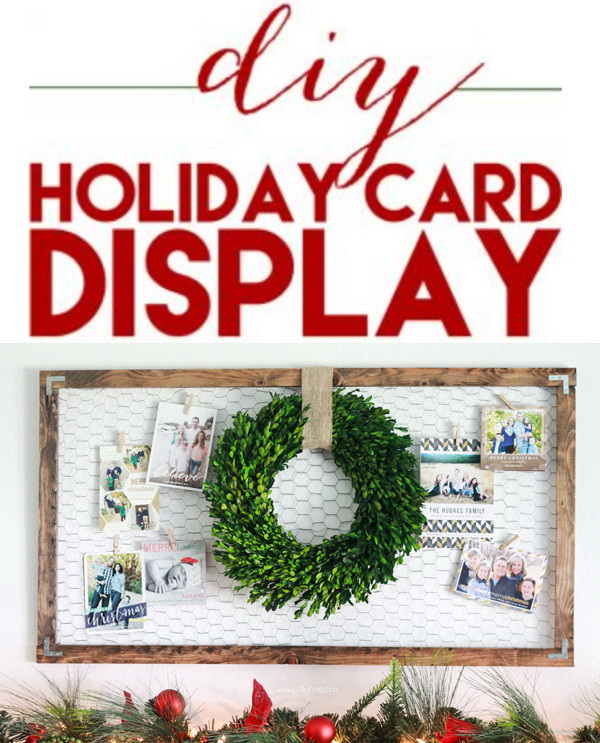 DIY Holiday Card Display.