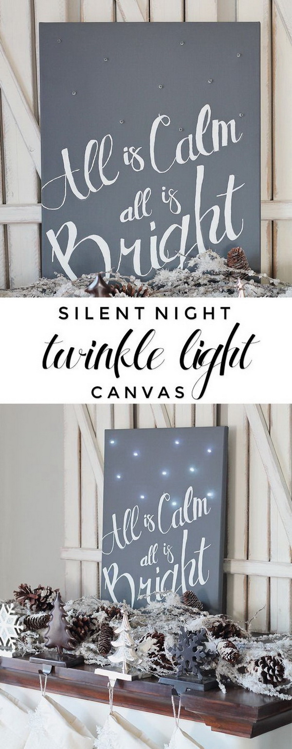 Silent Night Twinkle Light Canvas.