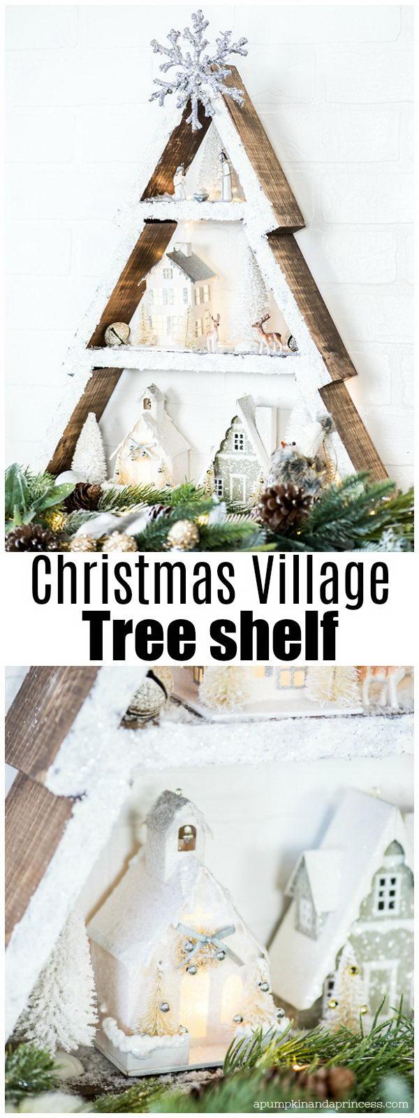 Winter Wonderland Holiday Tree Shelf.