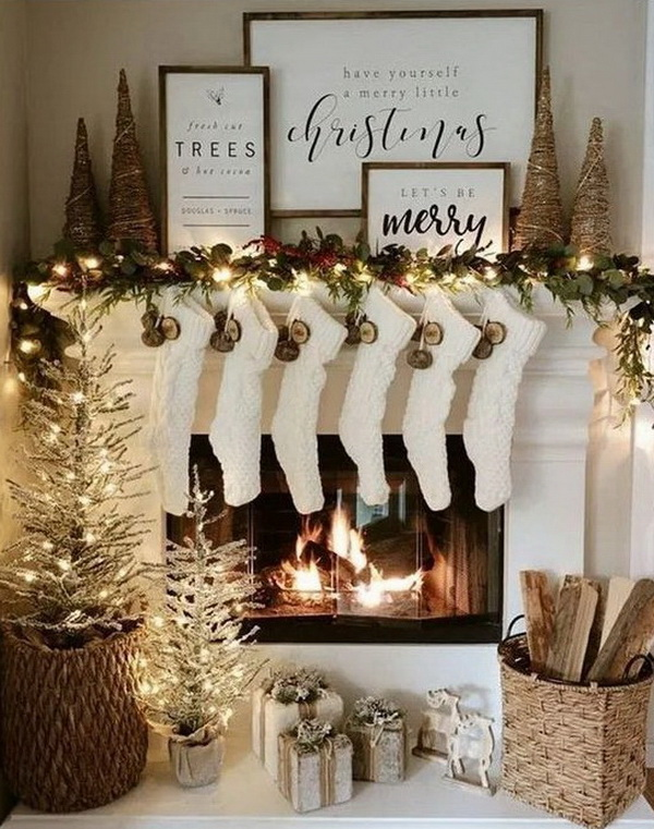 35+ Festive Christmas Mantel Decoration Ideas - For Creative ...
