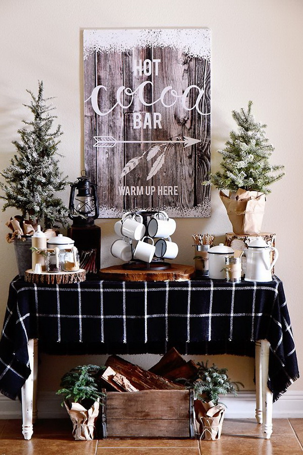 Farmhouse Hot Cocoa Bar.