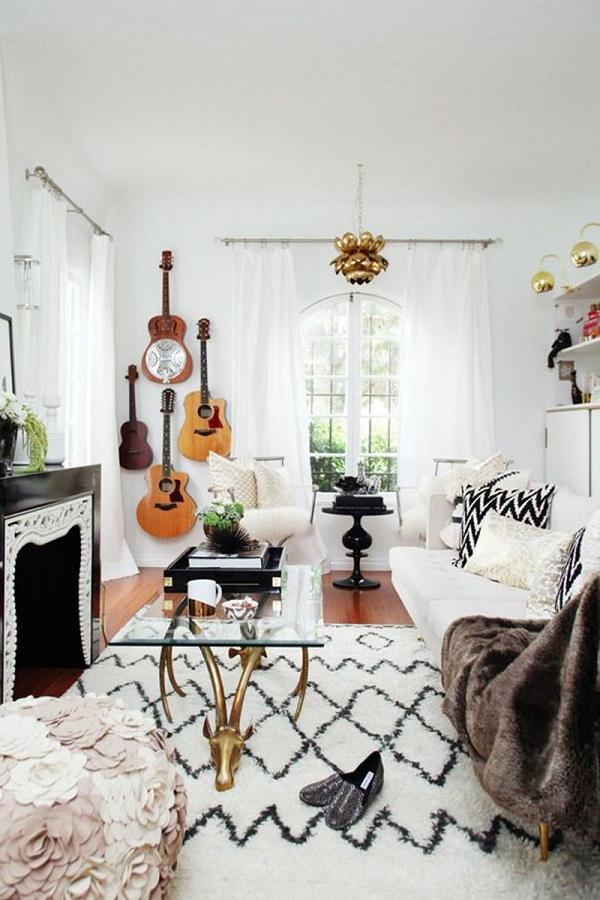 Modern bohemian living room ideas.