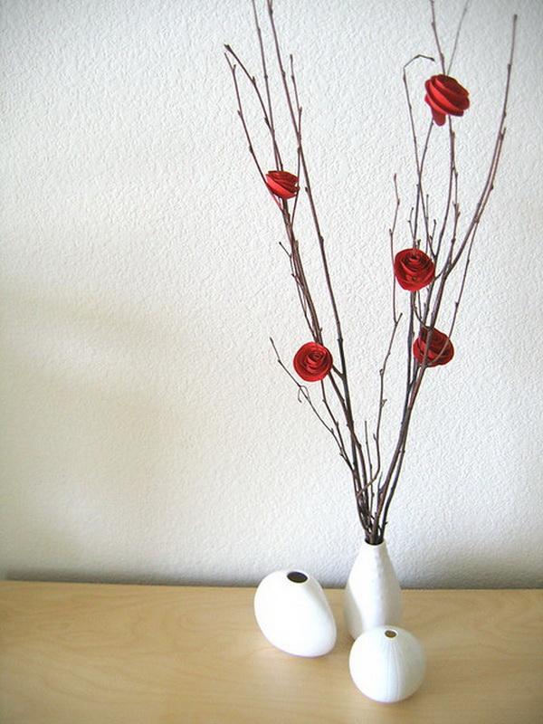 Paper Flower Branch Tree Centerpiece.