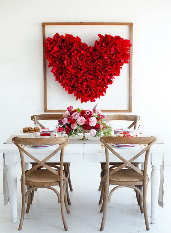 DIY Valentine's Day Heart Backdrop.