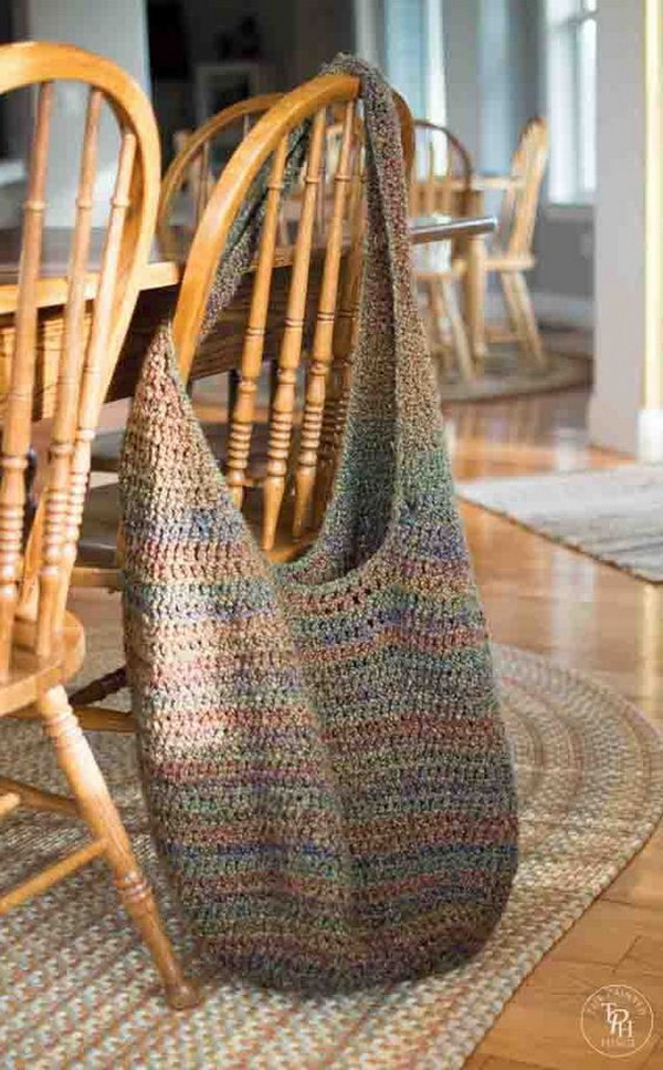 Extra Large Crochet Market Bag. This simple crochet bag is excellent for home storage and organization. It is super easy to make and perfect for blankets or beach towels!