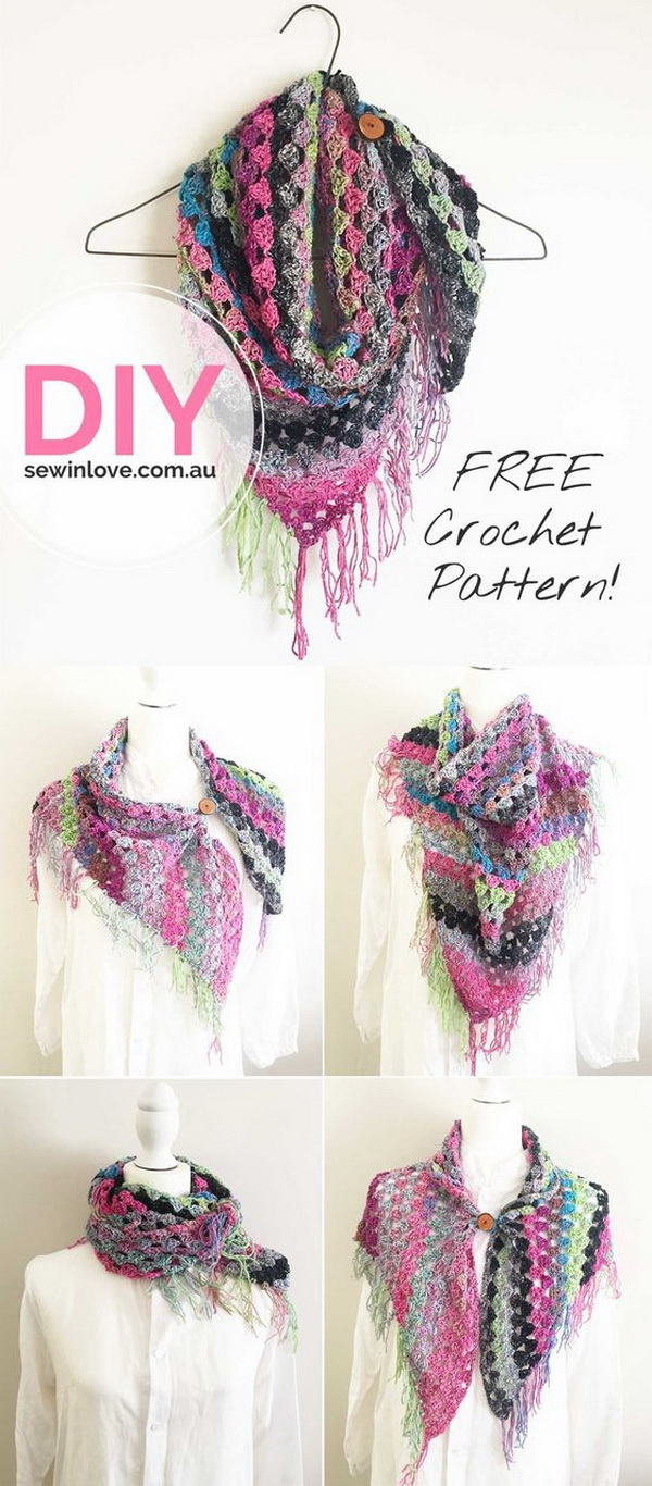 Crochet Noro Scarf.