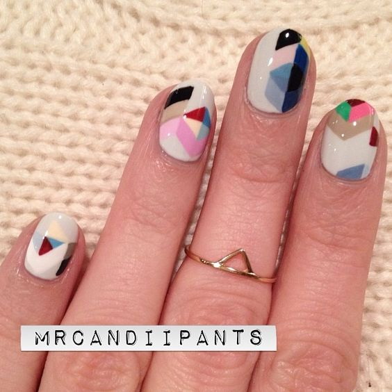 50+ Cool Abstract Nail Art Ideas.