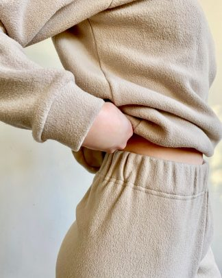 organic cotton fleece elasticated waist sweatpants