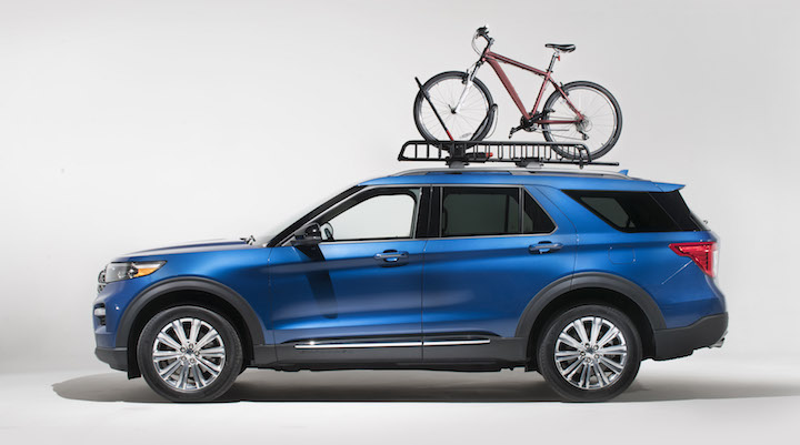 yakima roof racks and cargo accessories for 2020 ford explorer shown