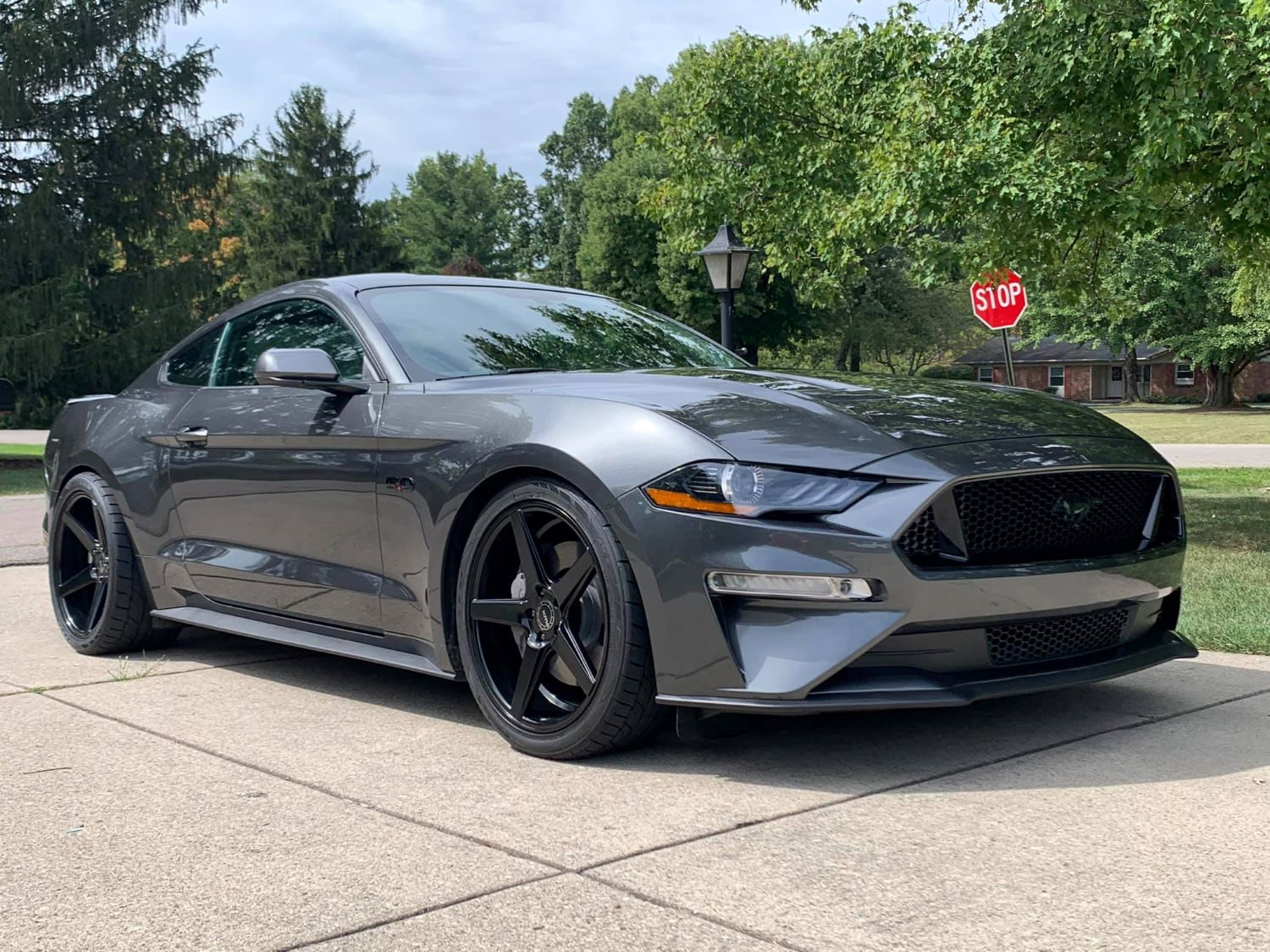 angry neighbor stuffs ford mustang gt