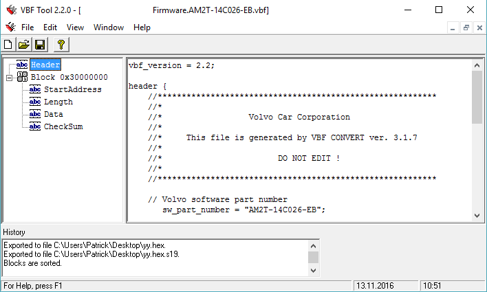 VBF Tool – FordCom