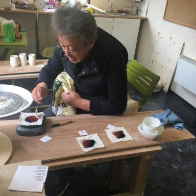 Mr. Fukumori, the master potter