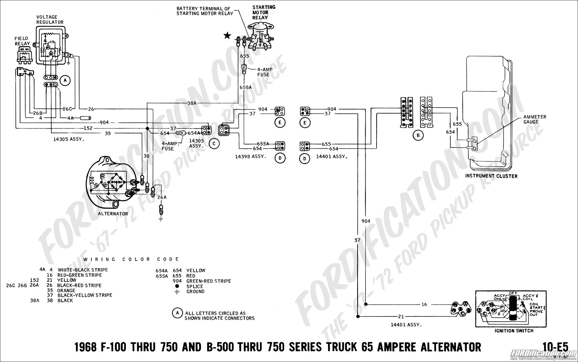 Ford Truck Alternator Wiring