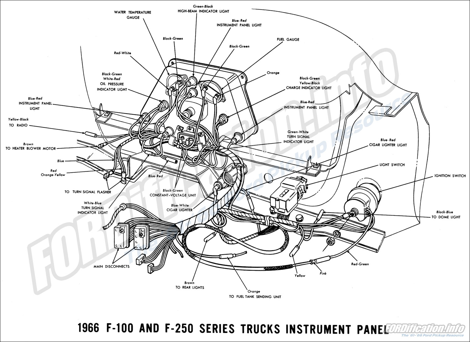 66 F250 Instrument Cluster Diagram