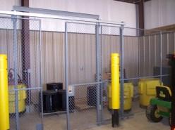 Equipment Cage with Double Slide Door
