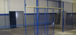 Blue Cage with Large Sliding Door