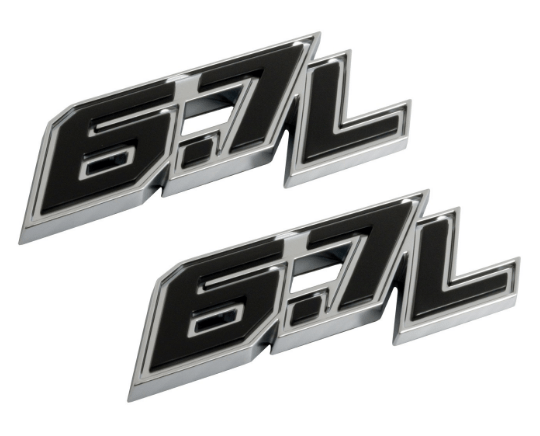 2018 FORD F250 SUPER DUTY 67L DOOR EMBLEM SET Image