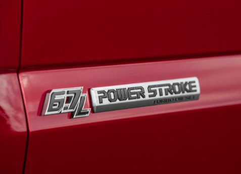 2018 FORD F250 SUPER DUTY POWER STROKE DOOR EMBLEM SET Image 2