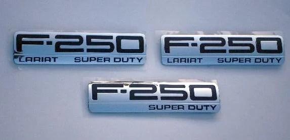 F250 Lariat Emblem Trio 2005 2006 2007 - FordPartsOne