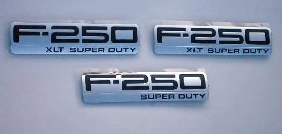 F250 XLT Emblem Trio 2005 2006 2007 - FordPartsOne