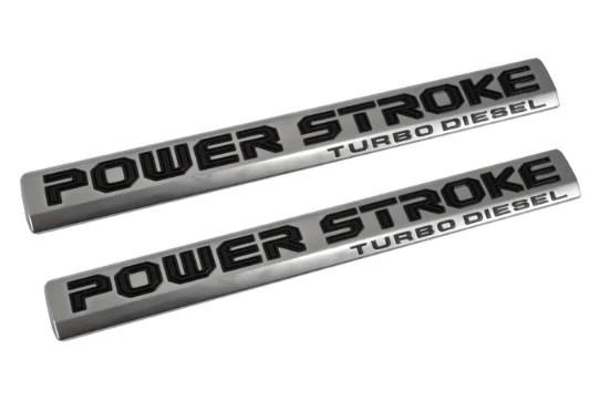 2017 FORD F250 SUPER DUTY POWER STROKE DOOR EMBLEM SET Image 1