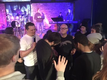 Pastor Scott MacLeod and others at The Foundry