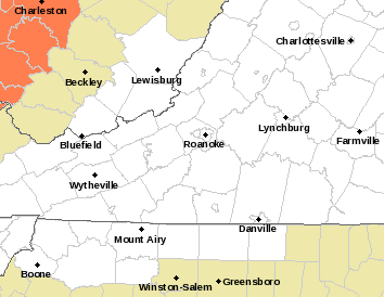 Flash Flood Watch Through Friday Morning For S Central VA Counties ...