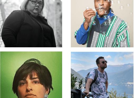 grid of four artist liaison portraits