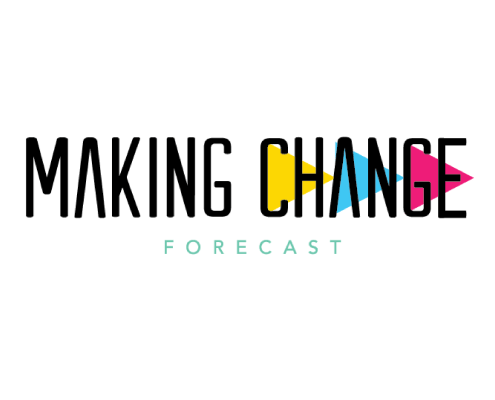 """""""Making Change"""" overlays three colorful arrows pointing right"""