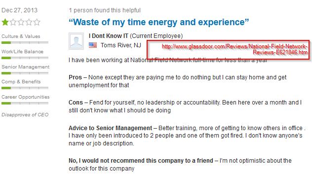 Glassdoor Employee Review