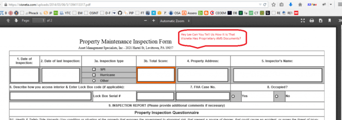 MCS (AMS) Proprietary Data On The Visnetta Website
