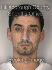 Nabil El Gadari's Booking Photo into the Hillsborough County Detention Facility