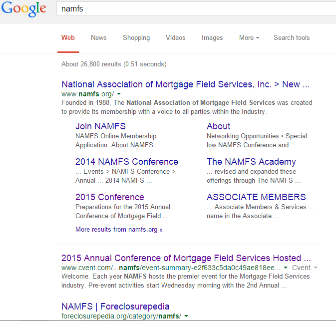 Foreclosurepedia Takes 3rd Position On Page One of Google