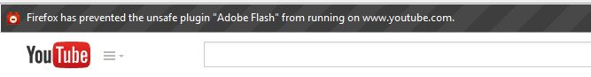 Adobe Flash Blanket Warning On Firefox