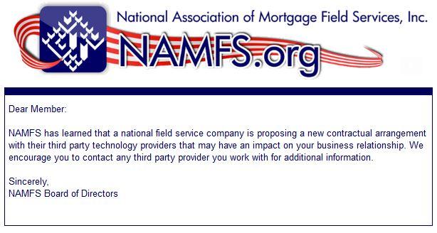 NAMFS Monitoring