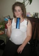 Bud Light White Trash Party Pregnant Chick Smoking and Drinking Beer BudLight