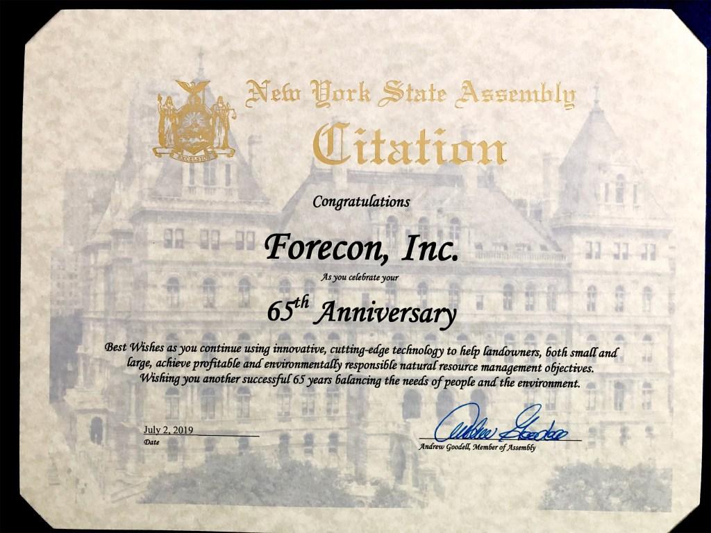FORECON_65_2019_NYS Assembly-Citation