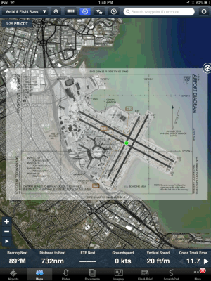 ForeFlight Update Lands in App Store: Plates on Maps, Flight Alerts, and Aerial Satellite