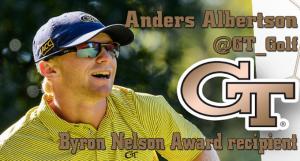 Albertson Receives Byron Nelson Award