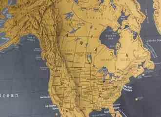 North America on map
