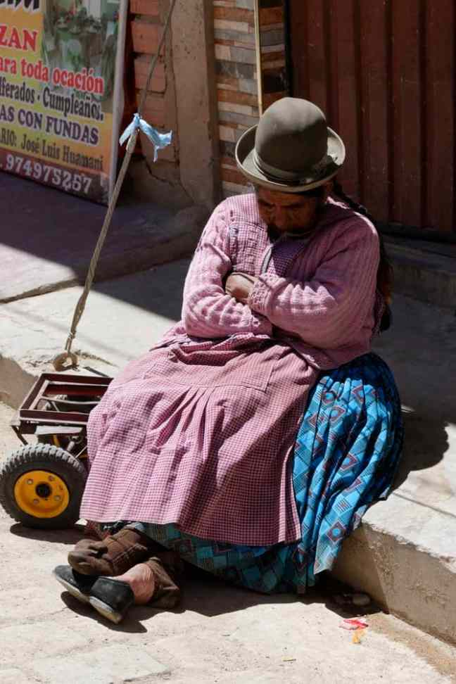 Bolivian Person Sleeping