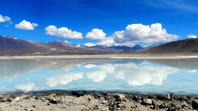 Beautiful Lake near the Salt Flats in Bolivia