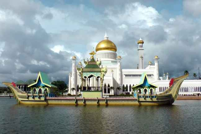 One of the most famous mosques of Brunei
